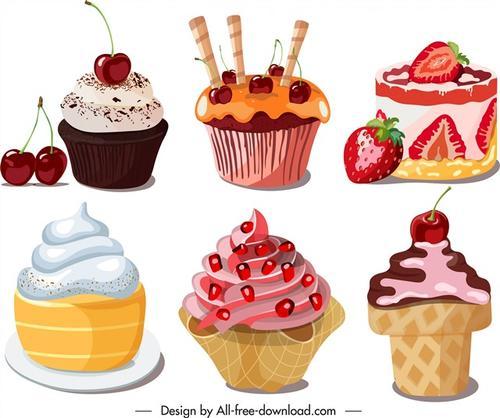 甜点蛋糕矢量图