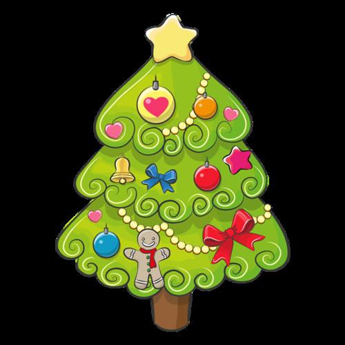蝴蝶结装饰圣诞树
