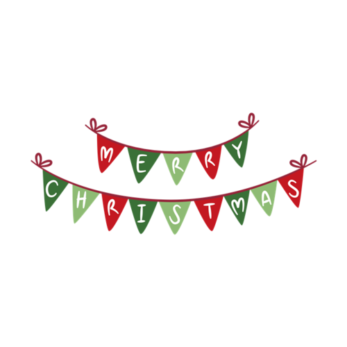 圣诞节快乐小彩旗
