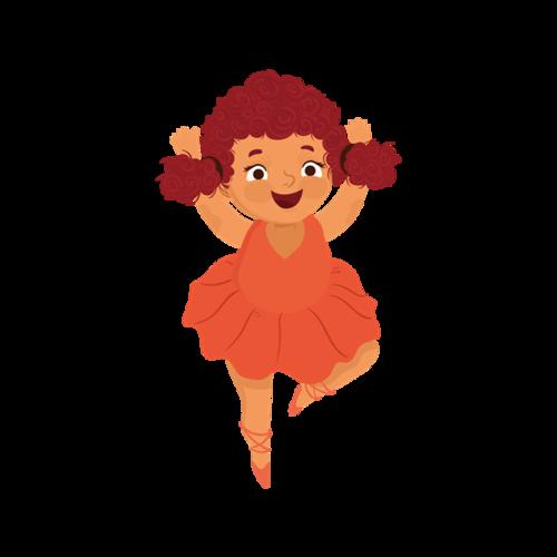 卡通跳舞女孩图片