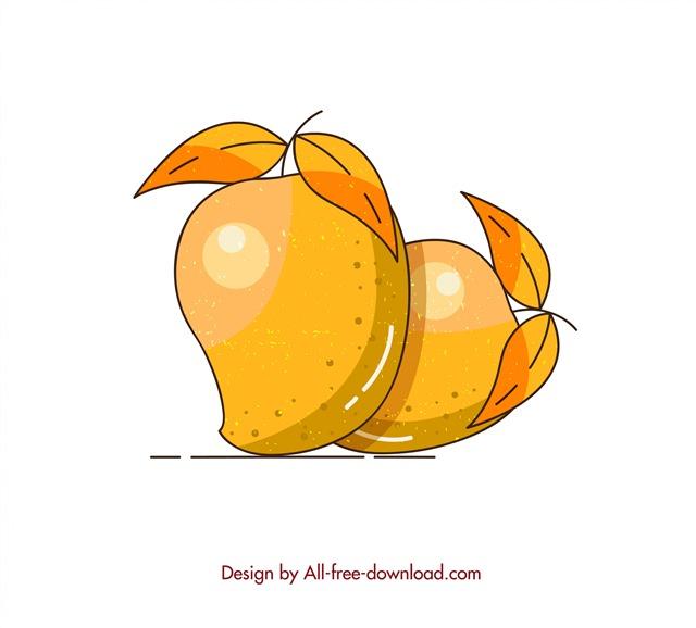 暖色立体芒果