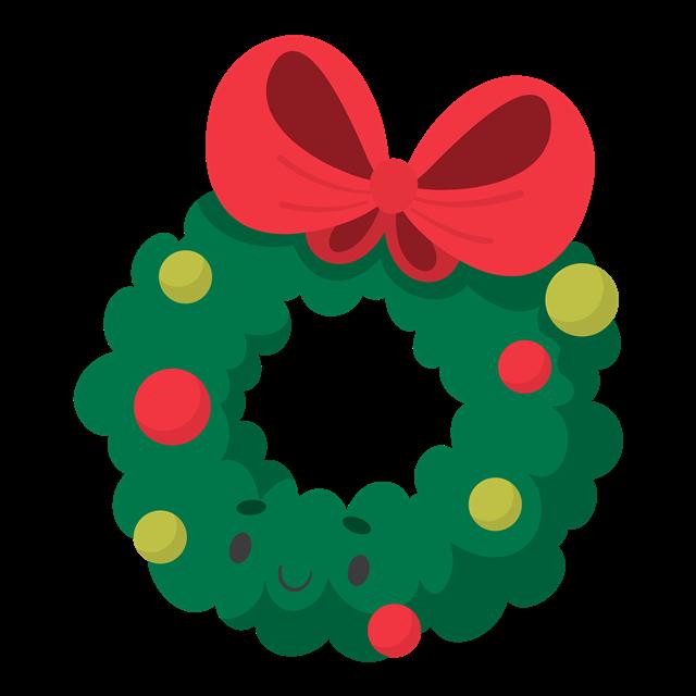 圣诞节花环矢量图