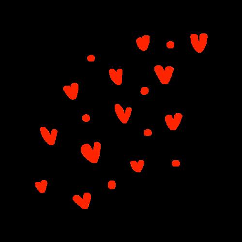 可爱的红色爱心元素