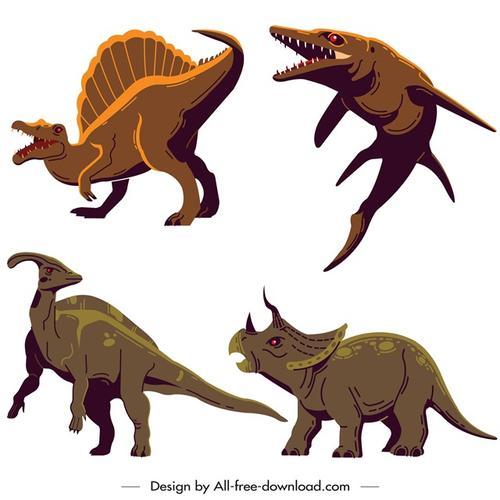 侏罗纪恐龙矢量图
