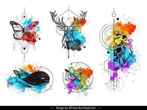 彩色纹身图案