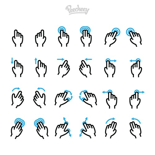 各种手势图标