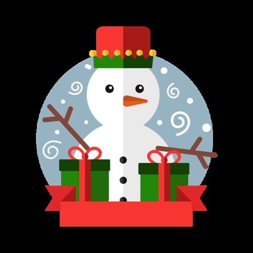 圣诞雪人图案