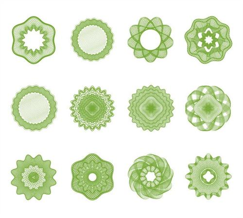绿色几何图案设计