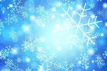 蓝色唯美雪花图片