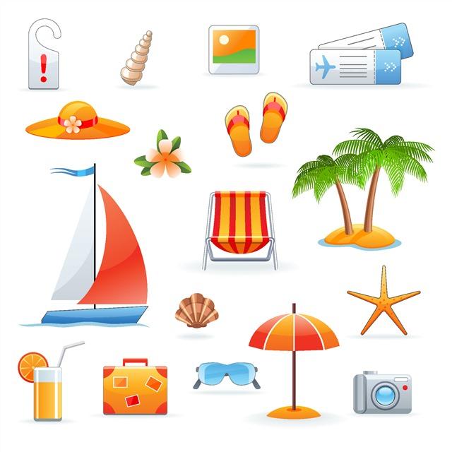 旅游度假主题图标