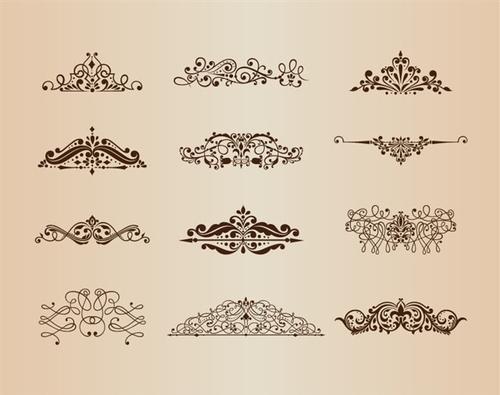 手绘古典花纹图案