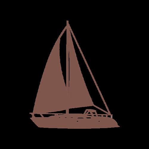 创意帆船图标