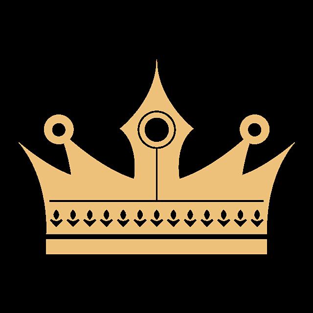 扁平化王冠矢量图