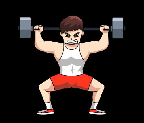 健身房运动人物