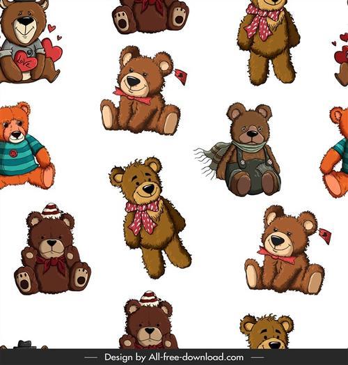 泰迪熊背景图案