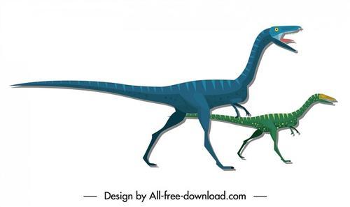 侏罗纪恐龙插画