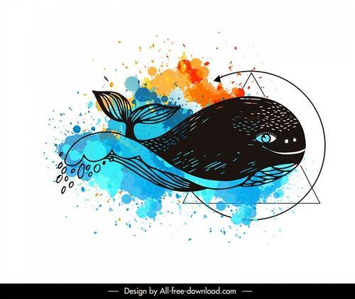鲸鱼纹身图案