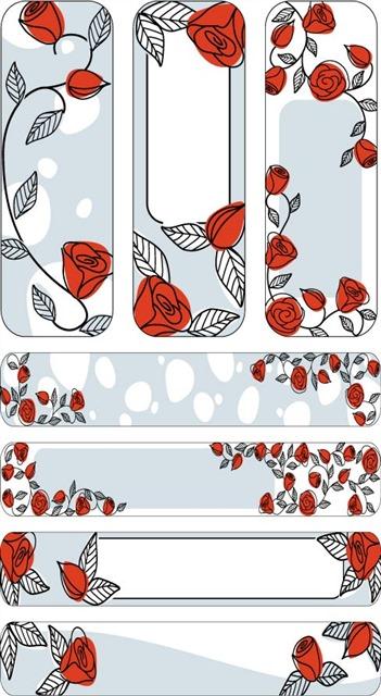 玫瑰花图案边框