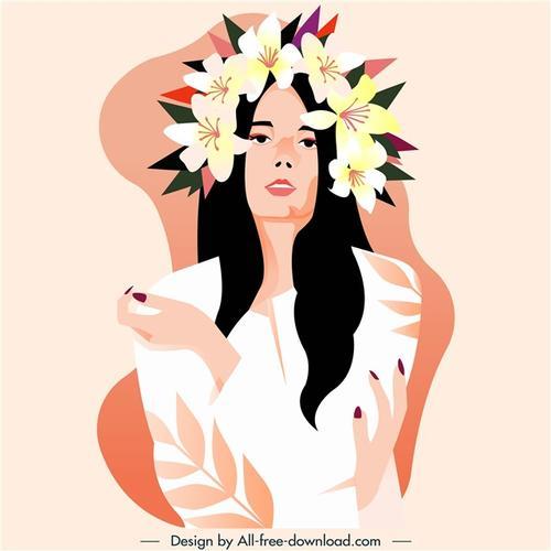艺术女性鲜花造型