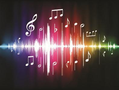 创意音乐符号光效背景