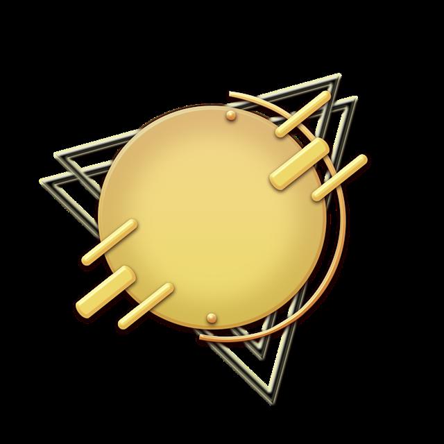 金属质感几何边框