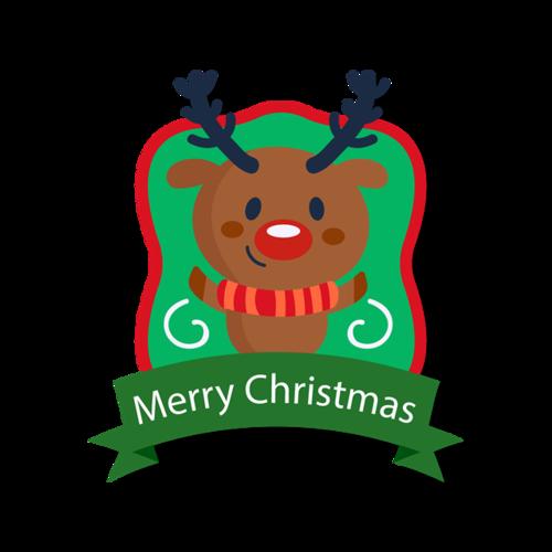 圣诞麋鹿贴画