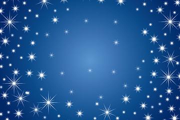 蓝色星星背景