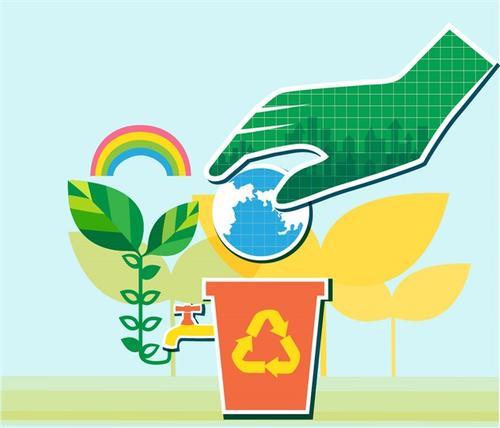 保护环境插画