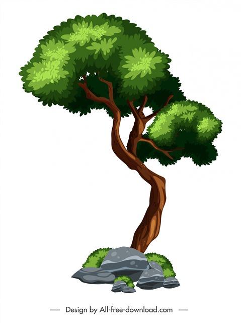 一颗大树矢量图
