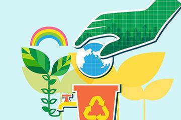 保护地球主题插画