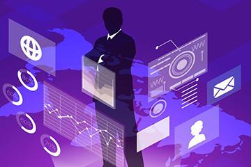 商务科技背景