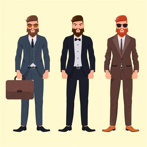 穿西装的男士