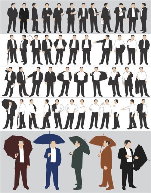穿西装的男士人物