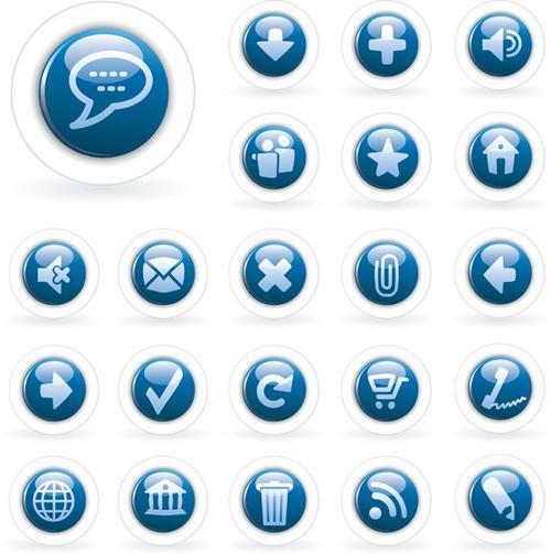 蓝色图标logo