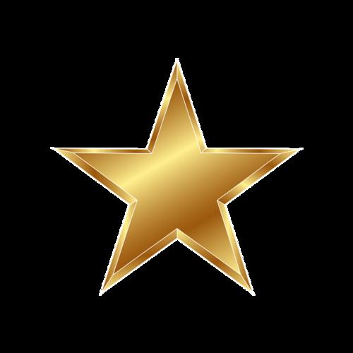 金色党建五角星