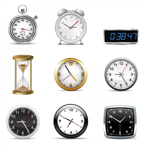 现代化闹钟矢量图