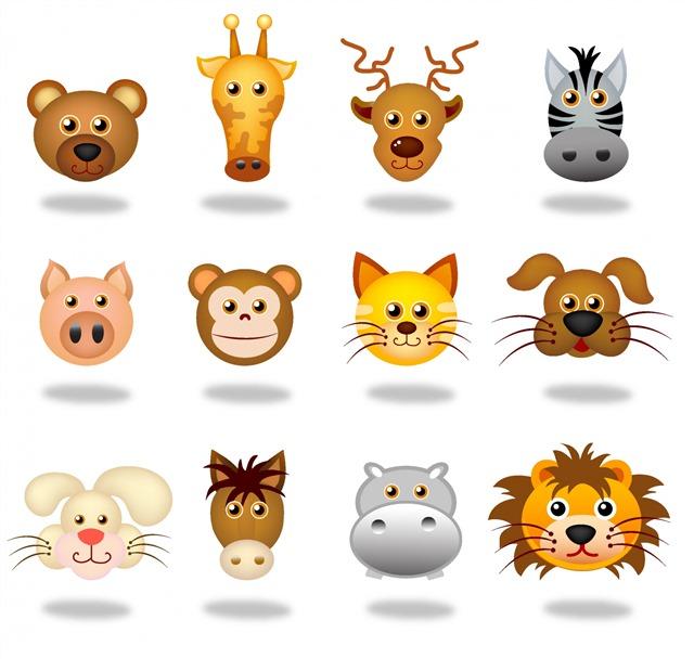 可爱动物头像免抠图