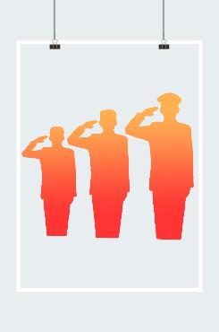 抗美援朝70周年军人剪影