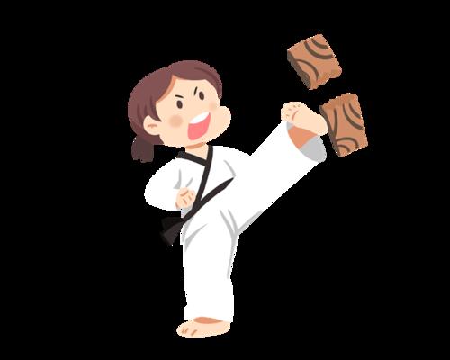 跆拳道踢木板表演