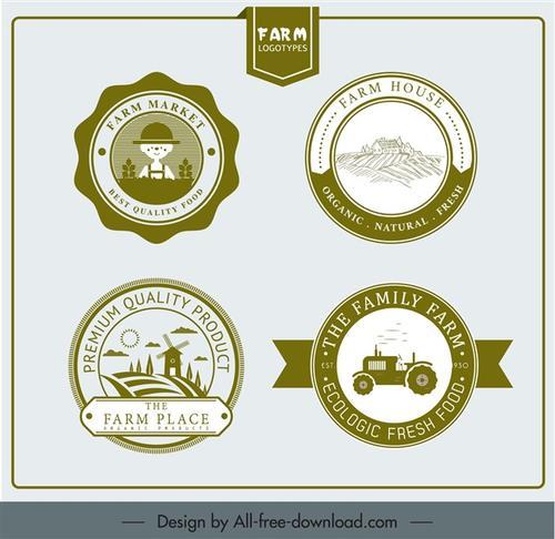 四款农场logo图标