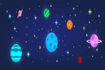 宇宙星球背景图