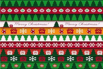 圣诞主题图案无缝背景