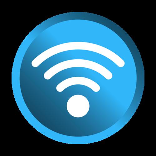 蓝色无线网图标