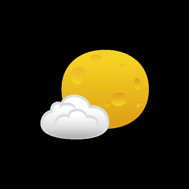 多云转晴天气图标