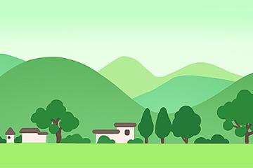 绿色村庄环保背景