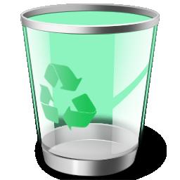 手绘可回收垃圾桶