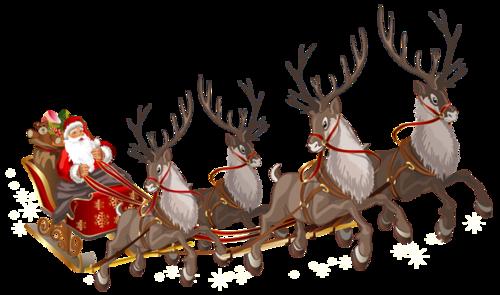 圣诞老人麋鹿雪橇