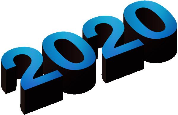2020数字创意立体字