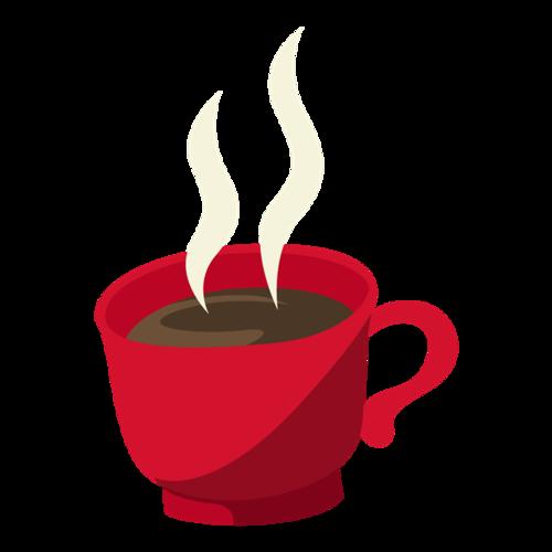 时尚咖啡杯矢量图