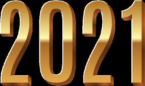 2021年金色主题数字